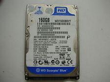 """WD Scorpio Blue 160gb WD1600BEVT-00ZCT0 2060-771820-000 REV A 2,5"""" SATA"""