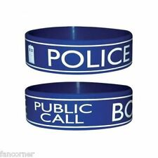 Dr Who bracelet officiel pvc souple Dr Who Tardis official rubber wristband