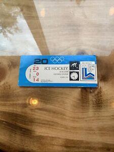 1980 Winter Olypics Lake Placid Ice Hockey Ticket  Miracle On Ice