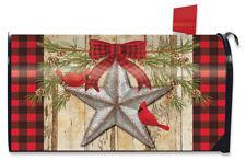 Festive Barnstar Winter Magnetic Mailbox Cover Primitive Cardinals Standard