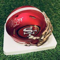 Nick Bosa San Francisco 49ers Autographed Signed Riddell Blaze Mini Helmet JSA