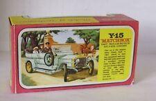 Repro Box Matchbox MOY Nr.15 1907 Rolls-Royce Silver Ghost Blisterbox