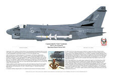 A-7 Corsair & F-14 Art Prints Signed by the Pilots, Aviation Art, Ernie Boyette