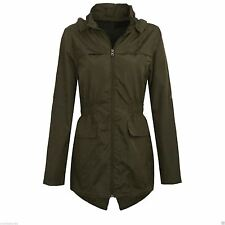 New Girls Hooded Fishtail Mac Lightweight Showerproof Parka Rain Jacket
