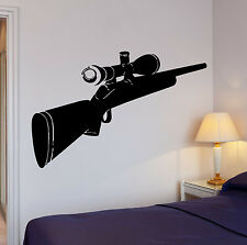 Wall Decal Hunt Hunting Sniper Rifle Cool Art For Living Room (z2626)
