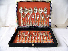 Vintage Silver Plated 24 Piece Canteen of Cutlery Made in Italy