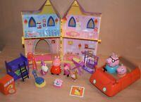 Peppa Pig Playset House Kingdom Singing Car Accessories Figures Kids Toys Bundle