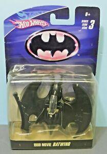 2009 Hot Wheels Batman 1989 Movie Batwing MOC DC Comics Warner Bros Rare