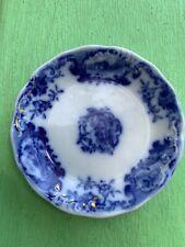 """Flow Blue """"Homestead"""" Butter Pat"""