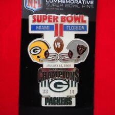 NEW Commemorative SUPER BOWL II NFL Packers vs Raiders Pin