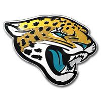 NFL Jacksonville Jaguars 3D Aluminum Color Car Truck Auto Emblem Sticker Decal