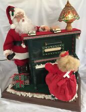 Holiday Time Animated Sing A Long Santa Cassette Player Little Girl Illuminated