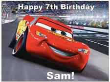 Disney Cars Lightning Mcqueen Personalised Cake Topper Edible Wafer Paper A4