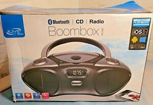 iLive Boombox Bluetooth Speaker with CD Player Radio Play Wirelessly IOS Android