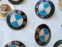 Vintage Sterling Silver BMW Enameled Lapel Hat Pin Back Motor Sports