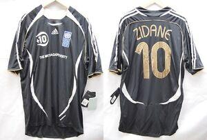 "The Match Against Poverty 2007 Zidane #10 Soccer Football Shirt Jersey ""BNWT"""