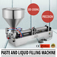 110V Pneumatic Paste and Liquid Filling Machine 100-1000ml For Shampoo Oil