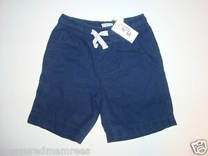 Children's Place Woven Shorts With Adjustable Waist ~ Size 4 ~ Navy ~ NWT