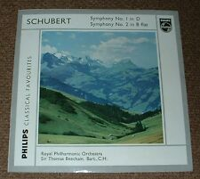 PHILIPS GBL 5634 SCHUBERT symphony no.1 & 2 BEECHAM UK MONO LP