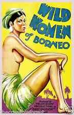 WILD WOMEN OF BORNEO Vintage Movie Poster CANVAS ART PRINT 24x32 in.