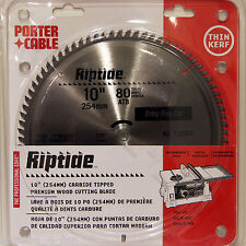 "Porter Cable 12902 10"" 80T Carbide Miter Saw Blade Extra Fine Wood Cutting Table"
