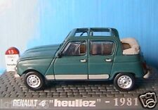 RENAULT R4 4 DECOUVRABLE HEULIEZ DECAPOTEE 1981 1/43