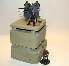 1:32 Ultimate Soldier WWII German Bunker Anti Aircraft Machine Gun w  Figures