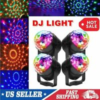 4pcs LED Galaxy Starry Sky Projector Night Lamp Party Disco Stage Lights Show US