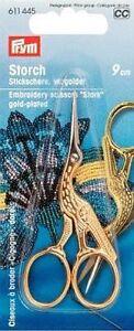 Feine Stickschere vergoldet Schere Storch Prym 611445