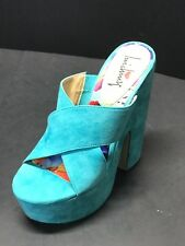 Luichiny Women's Brad Shaw Sandal Teal  Imi Suede Size US 7 M / EUR 37