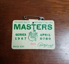 1967 USED MASTERS GOLF BADGE~COLLECTORS ITEM~VERY RARE TICKET~BREWER