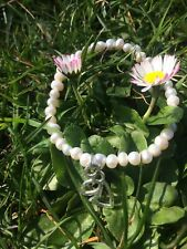 Freshwater Pearl Bead Bracelet With Angel Charm