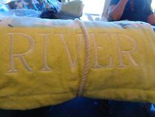 Pottery Barn Kids Allover whale beach Wrap mono River New