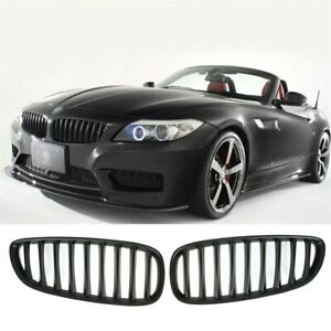 BMW E89 Z4 matte black OE M performance style front kidney grilles grille grills