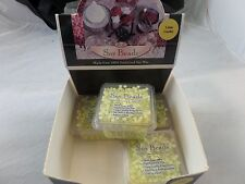 Beanpod Candles Lime Cooler Green Soy Beads 3 oz.- 4 BOXES 100% Stabilized  Wax