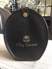 Vintage Oleg Cassini Wig Case Black Faux Leather