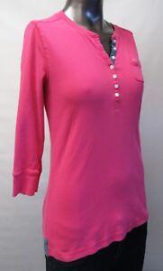 Ralph Lauren,Neuwertig,Damen,Shirt,3/4 Arm,Pink,Y-Ausschnitt,M(USA),Gr.40