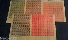 Bulgaria 1937 MILLENNIUM CYRILLIC ALPHABET 5 sheets x80 sets RRR MNH** OG F-VF