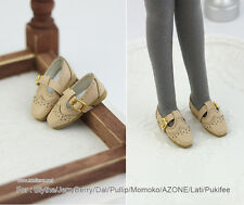 Retro square shoes_KHAKI for Blythe/DAL/Pullip/Momoko/AZONE/Lati_y