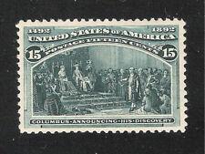 U.S. Scott 238 Columbian Exposition 15c og, MNH, PSE