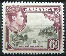 Jamaica Stamp 1938-52 6d King George VI Scott # 123a SG128 MINT OG VLH