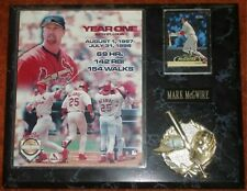 """MARK McGWIRE - """"YEAR ONE"""" LIMITED EDITION PLAQUE"""