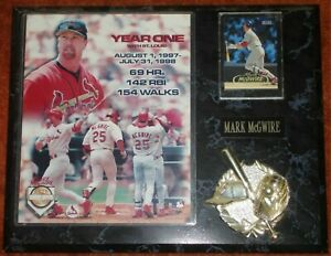 "MARK McGWIRE - ""YEAR ONE"" LIMITED EDITION PLAQUE"