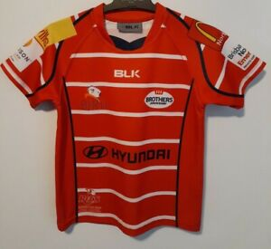BROTHERS JUNIOR RUGBY JERSEY BLK BRAND YOUTH SIZE J6 QUALITY REDS WHITE