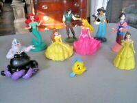 Disney Princess Lot (11) ~ Princesses, Prince & Villain PVC Cake Topper Dolls