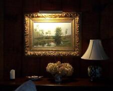 Olive Parker Black landscape oil painting on canvas (1868–1948)