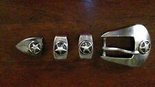 native American sterling silver belt buckle-initials RDM.