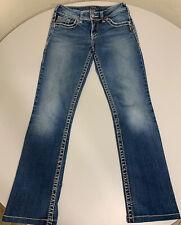 Silver Jeans Suki Thick Stitch Denim Mid Straight Jeans Womens 30x28