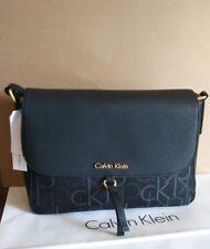 New Calvin Klein Addie logo black shoulder date bag crossbody
