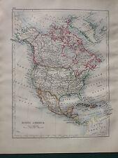 1900 mapa Victoriano ~ North America México Estados Unidos dominio de Canadá